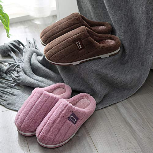 Pantoufles Rayé gray Coton Chaud La dérapant F12 Mois Couple Qsy Anti Maison À Shoe En m839 5Wq4I1