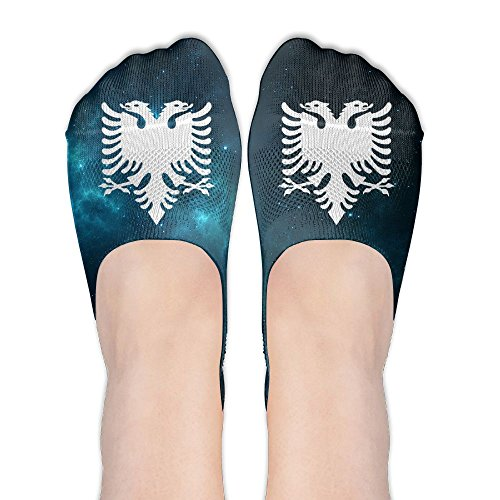 Albanian Eagle Women's Thin Casual No Show Socks Non Slip Flat Boat Line by Wendengly
