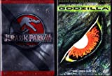 Godzilla , Jurassic Park III : Dinosaur Movie 2 Pack Collection