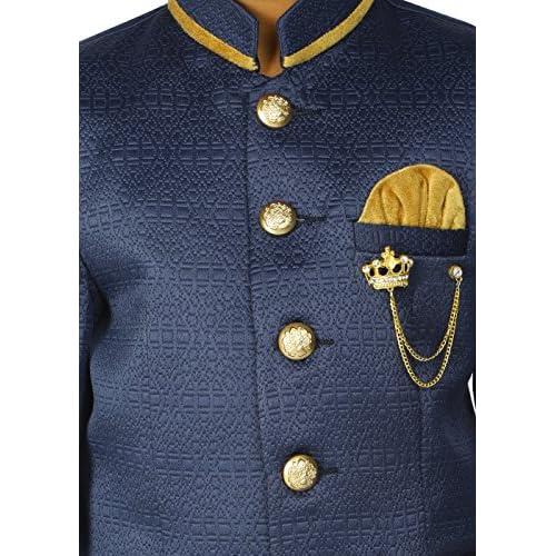 e472a2dd742 ahhaaaa Kids Ethnic Indian Jodhpuri 2 PC Party Wear Suit Set for Boys