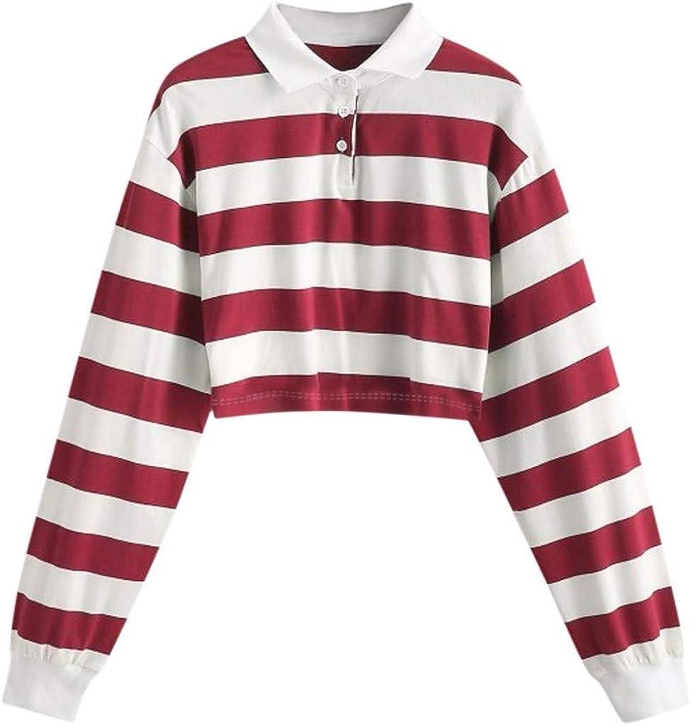 LAPA Women Stripe Long Sleeve Hoodie Hoody Sweatshirt Jumper Pullover Top Blouse