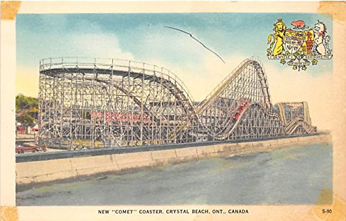 New Comet Coaster, Crystal Beach Ontario, Canada Postcard Post Card