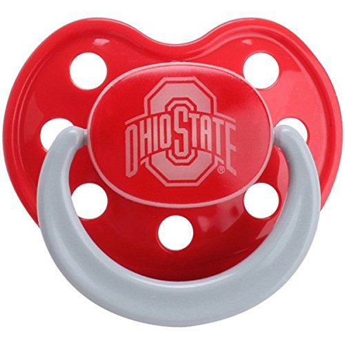 Baby Fanatic Pacifier - Glow in The Dark (2 Pack) - Ohio State University -