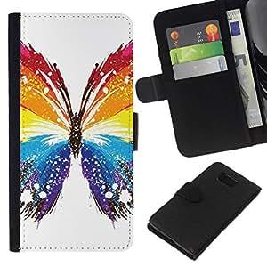 All Phone Most Case / Oferta Especial Cáscara Funda de cuero Monedero Cubierta de proteccion Caso / Wallet Case for Samsung ALPHA G850 // Butterfly Colors