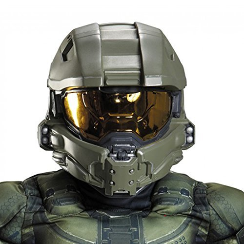 Master Chief Full Helmet Costume Accessory (Halo Master Chief Kids Costume)