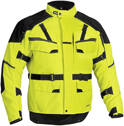 FirstGear Jaunt T2 Men's Waterproof On-Road Motorcycle Jacket - DayGlo/Black - X-Large