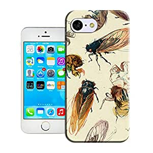 BY SHICASE Cute Cicada Painting Picture Of Tpu Attractive And Durable Cases For Iphone 5c