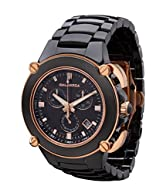CALABRIA - Sottomarino Collection - CORRENTE - Hi-Tech Ceramic and Rose Gold Chronograph Men's Watch