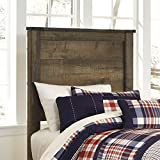 Ashley Trinell Wood Twin Panel Headboard in Brown
