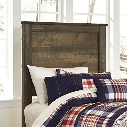 Ashley Trinell Wood Twin Panel Headboard in Brown by Ashley Furniture