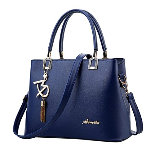 Borsa Donna Borse a Mano Borse a Tracolla con tracolla in pelle zaino Borse a Spalla Borsetta Messenger Tote Bag Beauty Top Blu