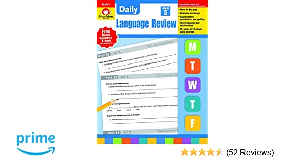 Daily Language Review Grade 5 Common Core Edition Evan