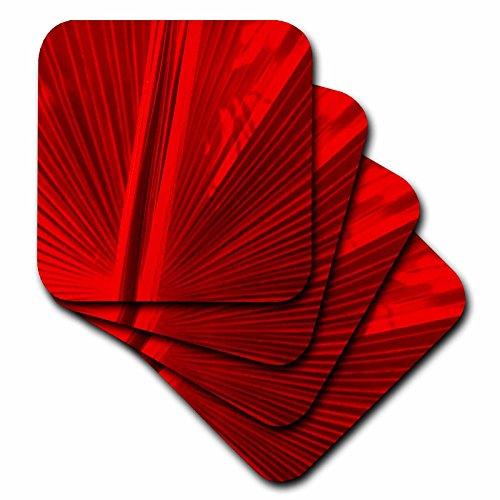 3dRose Fan Red Coaster Soft