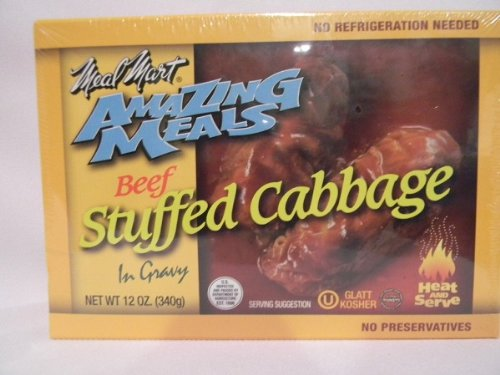 - Meal Mart GLATT KOSHER Amazing Meals Stuffed Cabbage Rolls Pack of 2