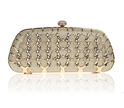 Diamond Bag Nightclub Metal Bride Party Hollow Bag Clutch Bags Chain Bridesmaid Yellow Women's Bag Evening Bag xIwXpYgq