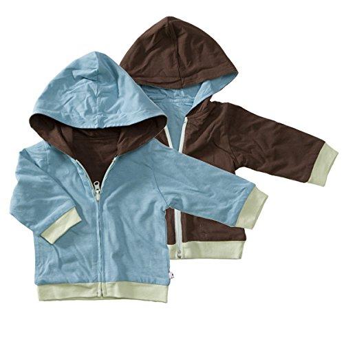 Babysoy Reversible Zipper Hoodie Jacket Ocean 12-24 Months