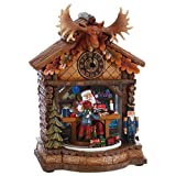 Santa's Workshop Musical Christmas Clock Decoration, 9 1/2 Inch