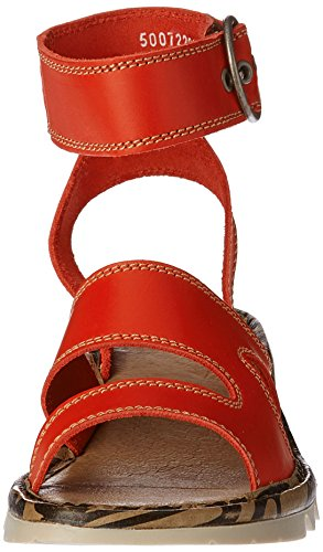 FLYA4|#Fly London Tily722fly, Heels Sandals Para Mujer Rojo (Scarlet 005)