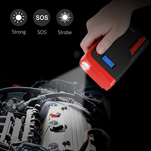Car Jump Starter, BESTEK 400A 12000mAh 12V Portable Auto Battery Booster Pack, Power Bank with Dual USB Ports LED Light LCD Screen by BESTEK (Image #5)