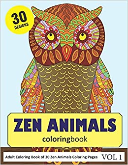 Amazon.com: Zen Animals Coloring Book: 30 Coloring Pages of ...