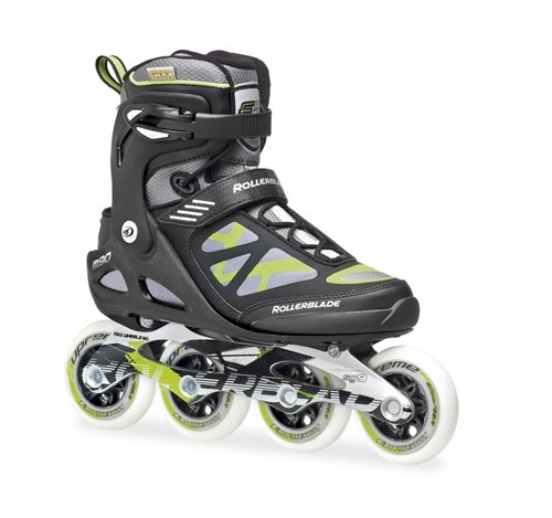 Rollerblade Men's Macroblade 90 Skate, Black/Green, 9
