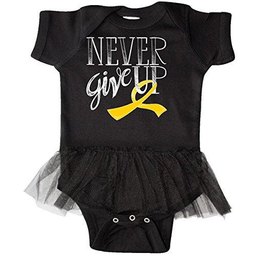 inktastic - Never Give up- Childhood Cancer Infant Tutu Bodysuit 18 Months ()