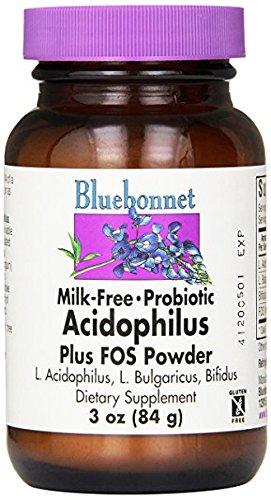 Acidophilus Bacteria Powder (BlueBonnet Probiotic Acidophilus Plus FOS Powder, 3 Ounce)