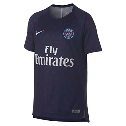 Nike 2018-2019 PSG Pre-Match Training Football Soccer T-Shirt Camiseta (Navy) - Kids: Amazon.es: Deportes y aire libre