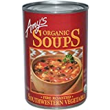 Amy's, Organic Soups, Fire Roasted, Southwestern Vegetable, 14.3 oz (405 g)(Pack of 6)