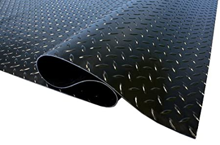 Black in Color Thermodyn 1//8 x 4x6 Rubber Diamond Plate Flooring