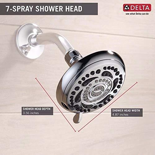 fixed shower head chrome
