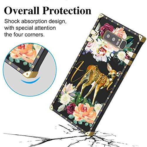(Phone Shell Case Compatible for Galaxy Note 8 6.3inch Always Fawn Art )