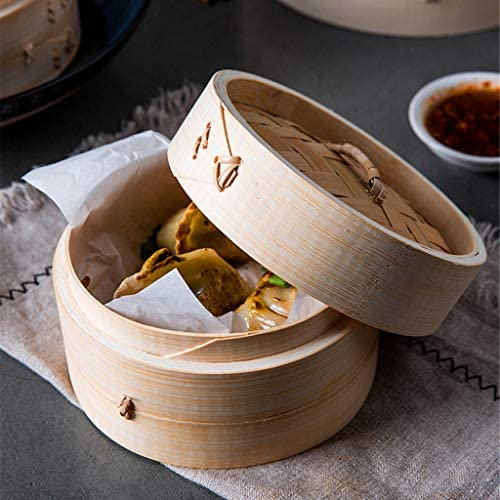 51Az7dYVyHL. AC LOVIVER 2 Pack of Food Steamer with Lid, 7-Inch, Natural Bamboo    Description: - Authentic asian cooking: create healthy chinese cuisine at home.