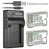 Kastar Battery (X2) & Slim USB Charger for Olympus BLM-5, PS-BLM5 and Olympus C-8080, C-7070, C-5060, E1, E3, E5, E300, E330, E500, E510, E520 Digital Camera