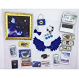 Littlest Pet Shop Dark Blue Galaxy Accessories & Wings 21 Pieces LPS PET NOT Included Nice
