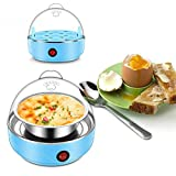 Mini Steamer Poacher Kitchen Cooking Tool US Plug 350W Light Blue 220V 50HZ Multifunctional Electric 7 Egg Boiler Cooker -Pier 27