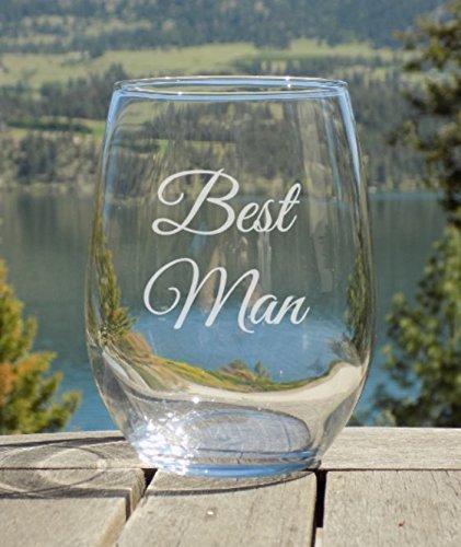 Best Man Glass, Best Man engraved Gifts, 20oz Wine Glass