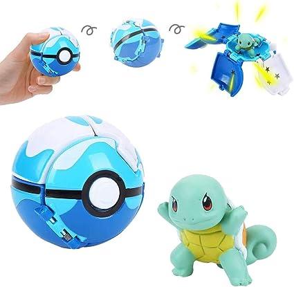 su ma Poké Bolas Pokéball, Pokemon Figuras with Throw Pop Poké ...