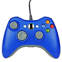 Xbox 360 Wired Controller SL11 Wired PC controller USB Gamepad For Microsoft Xbox 360/PC (Blue)