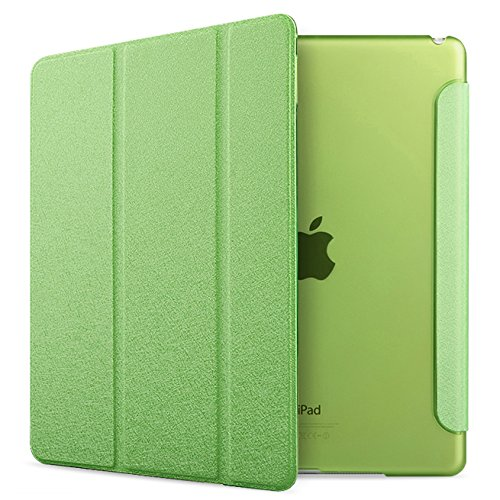 [ ON SALE ] iPad Air 2 Case Folio Case Stand Case Smart Cover (Apple Green)