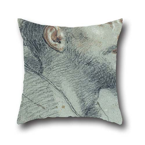 16 X 16 Inches / 40 By 40 Cm Oil Painting Marco Benefial - Study Of The Head Of Saint Francis Throw Cushion Covers ,double Sides Ornament And Gift To Wedding,kids Girls,couch,girls,divan,kids Room