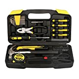 DOWELL 40-Piece Homeowner Tool Set - General Household Hand Tool Kit with Plastic Tool box Storage Case
