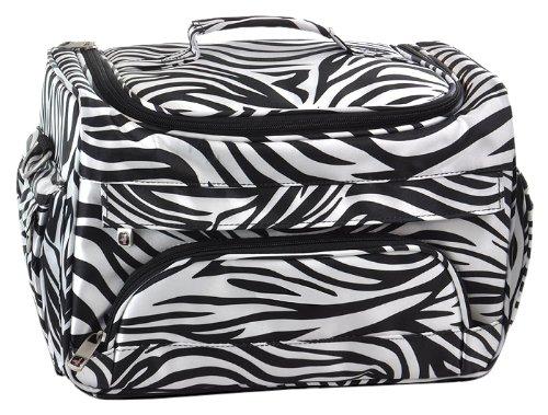 Roo Beauty Hairdressing Tool Bag, Hair Salon Storage Holder, Beauticians Organiser Case in Zebra Roo Salon Ltd 3194