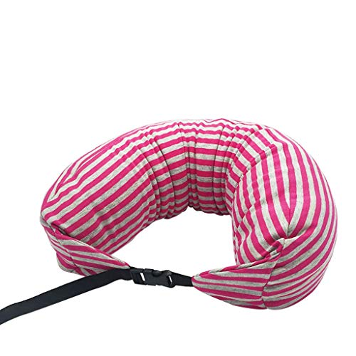 iQKA Travel Pillow Memory Foam U Shaped Pillow Neck Support Head Rest Airplane Cushion Throw Pillow Cover