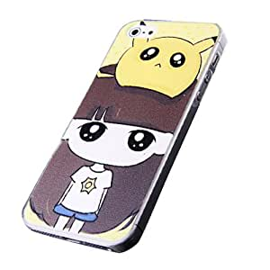 Pikachu Painting Sturdy Slim Plastic Snap-On For iPhone 5 or iPhone 5s Cases