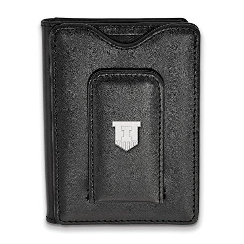 Lex & Lu LogoArt Sterling Silver University of Illinois Black Leather Money Clip Wal from Lex & Lu