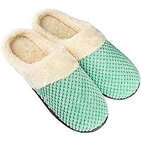 Fu Store Comfort Coral Fleece Memory Foam Slippers Fuzzy Plush Lining Women's Slip-on Clog