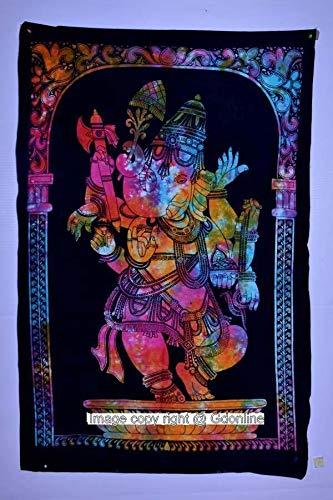 GDONLINE Indian Mandala Cotton Wall Hanging Lord Ganesha Home Decor Art Poster Tapestry (Ganesha Yoga Mat)