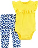 Carter's Baby Girls' 2 Piece Bodysuit Pant Set 9 Months,Yellow