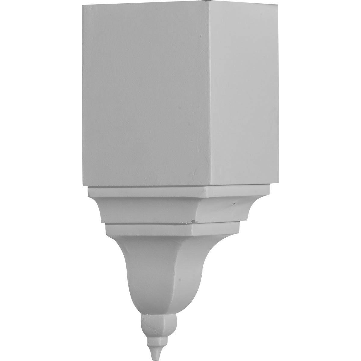 Ekena Millwork MIC05X06BI-CASE-4 5-1/2'' P x 13-3/4'' H Inside Corner for Molding Profiles Less than 5 1/2'' P and 6 3/4'' H (4 Pack)